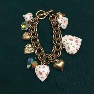 Betsey Johnson picture locket bracelet